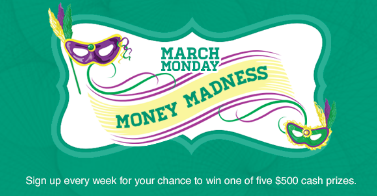 """Check Into Cash """" March Monday Money Madness Cash Give-away"""