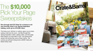 Crate&Barrel-Sweepstakes