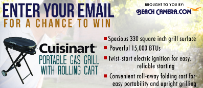Beach Camera Sweepstakes Win A Cuisinart Portable Gas Grill With Rolling  Cart!