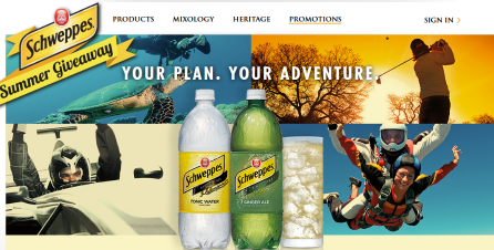 Schweppes-Sweepstakes