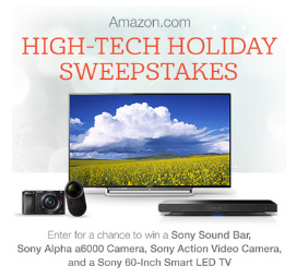 Amazon com High Tech Holidays Sweepstakes – Win a 60′ Sony