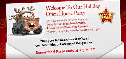 picture relating to Welcome to Our Open House Printable titled Disney Online video Benefits Holiday vacation Open up Dwelling Take Reward Facts