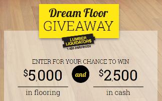 Lumber Liquidators Dream Floor Giveaway Sweepstakes – Win $2,500 ...