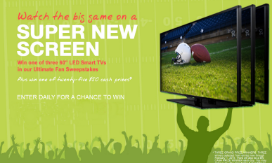 Coupons com Ultimate Fan Sweepstakes – Win a 60″ Samsung