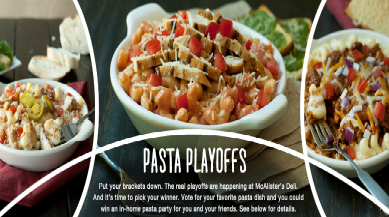Mcalister S Pasta Playoffs Sweepstakes Win A 250 Mcalister S