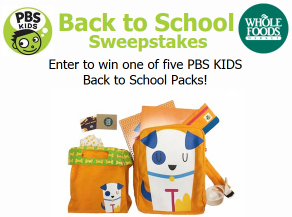 pbs sweepstakes pbs kids back to school sweepstakes win a pbs kids 2217