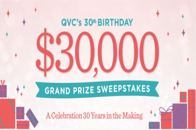 QVC 30th Birthday Celebration Sweepstakes – Win $30,000