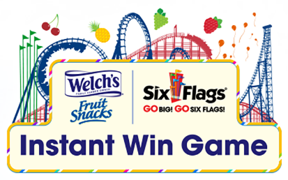 Welch's® Fruit Snacks Instant Win Game – Win tickets to Six Flags