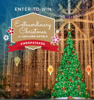 Extraordinary Christmas at Gaylord Hotels Sweepstakes – Win a trip ...