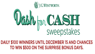 J G  Wentworth Dash For Cash Sweepstakes – Win a $500 Visa gift card