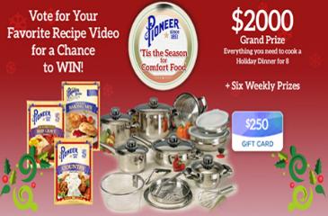 Pioneer Tis The Season For Comfort Food 2016 Recipe Voting