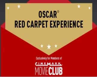 Cinemark Red Carpet Experience Sweepstakes – Win a trip to