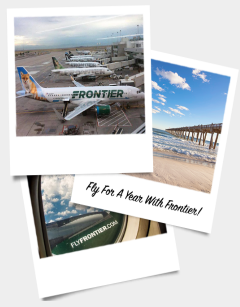 Frontier's Online and Social Free Flights for a Year Sweepstakes