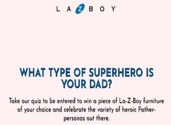 La-Z-Boy Father's Day Sweepstakes – Win a piece of La-Z-Boy