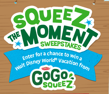 GoGo squeeZ® – squeeZ the Moment Sweepstakes – Win a trip to