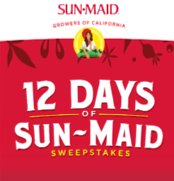 12 Days of Sun-Maid Sweepstakes – Win a KitchenAid mixer or