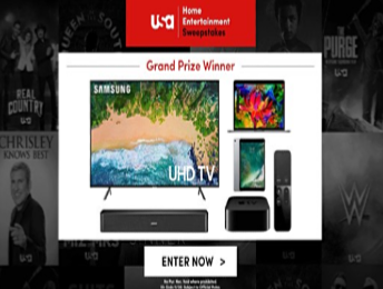 USA Home Entertainment Sweepstakes – Win a 50″ Samsung 4K TV