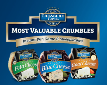Treasure Cave Crumbles Instant Win & Sweepstakes – Win a 65