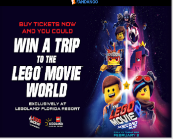Fandango The LEGO Movie 2: The Second Part Sweepstakes – Win a trip