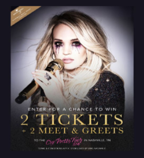 Carrie Underwood Flyaway Sweepstakes – Win a trip to