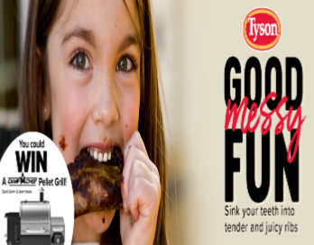 Tyson® Ribs Summer Sweepstakes – Win a Camp Chef Woodwind SG Pellet